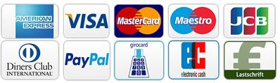 Kreditkarten, Zahlungsmethoden